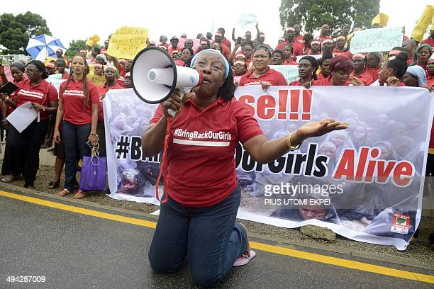 Nollywood celebrity Patience Ozokwor aka Mama G pleads for the release of the more than 200 abducted Chibok school girls in Lagos on May 29 during a...