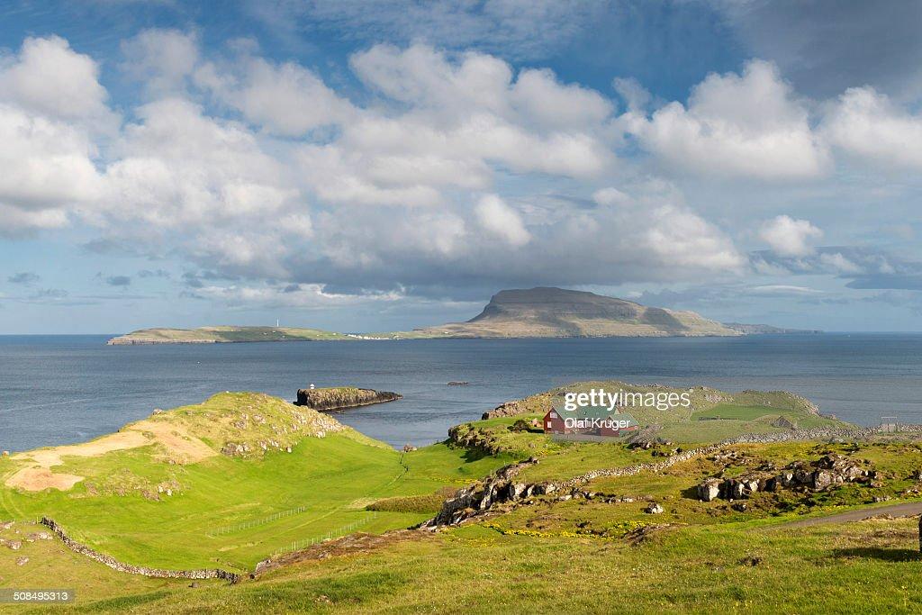 Nolsoy Island, viewed from Hoyvik on Streymoy, Faroe Islands, Denmark