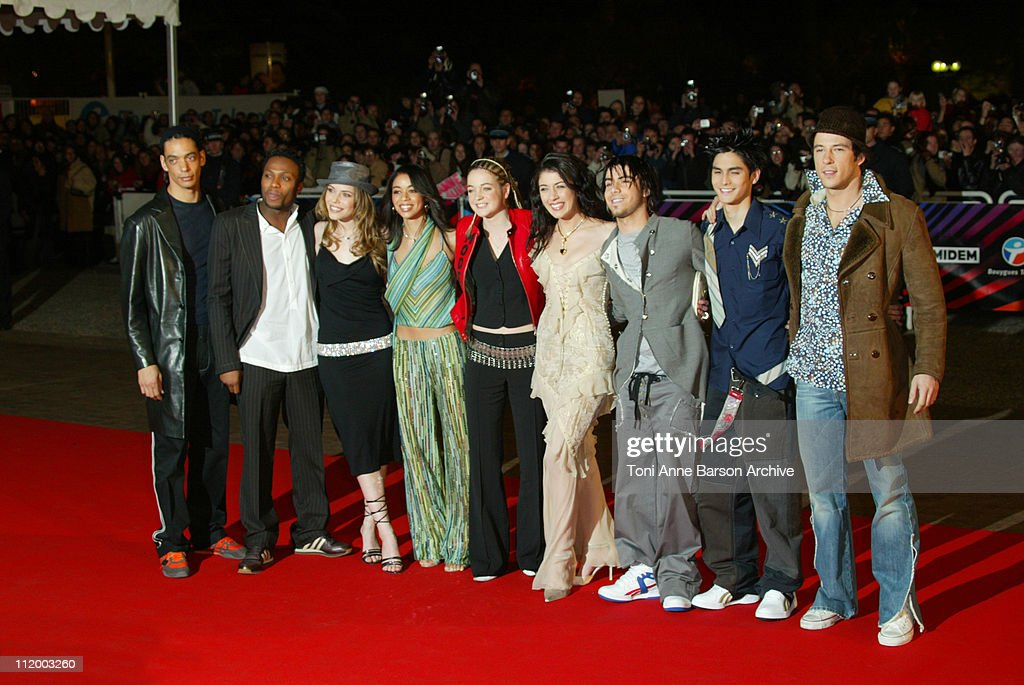 Nolwenn Leroy and Star Academy 2 during NRJ Music Awards 2003 Cannes Arrivals at Palais des Festivals in Cannes France
