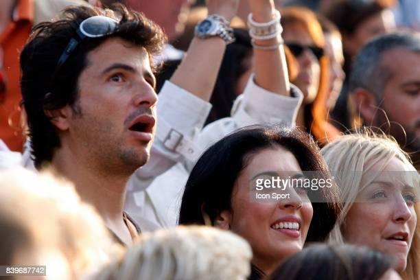 Nolwenn LEROY assiste au match d'Olivier PATIENCE Roland Garros 2007 Jour 7