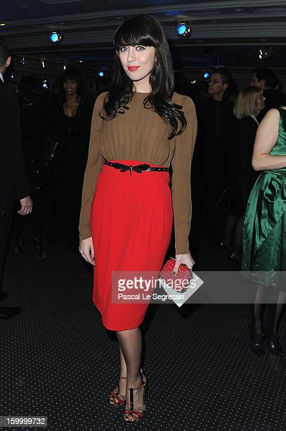 Nolwenn Leroy attends the Sidaction Gala Dinner 2013 at Pavillon d'Armenonville on January 24 2013 in Paris France