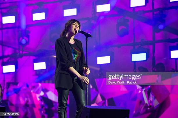 Nolwenn Leroy performs during Paris Olympic Games celebration at Mairie de Paris on September 15 2017 in Paris France