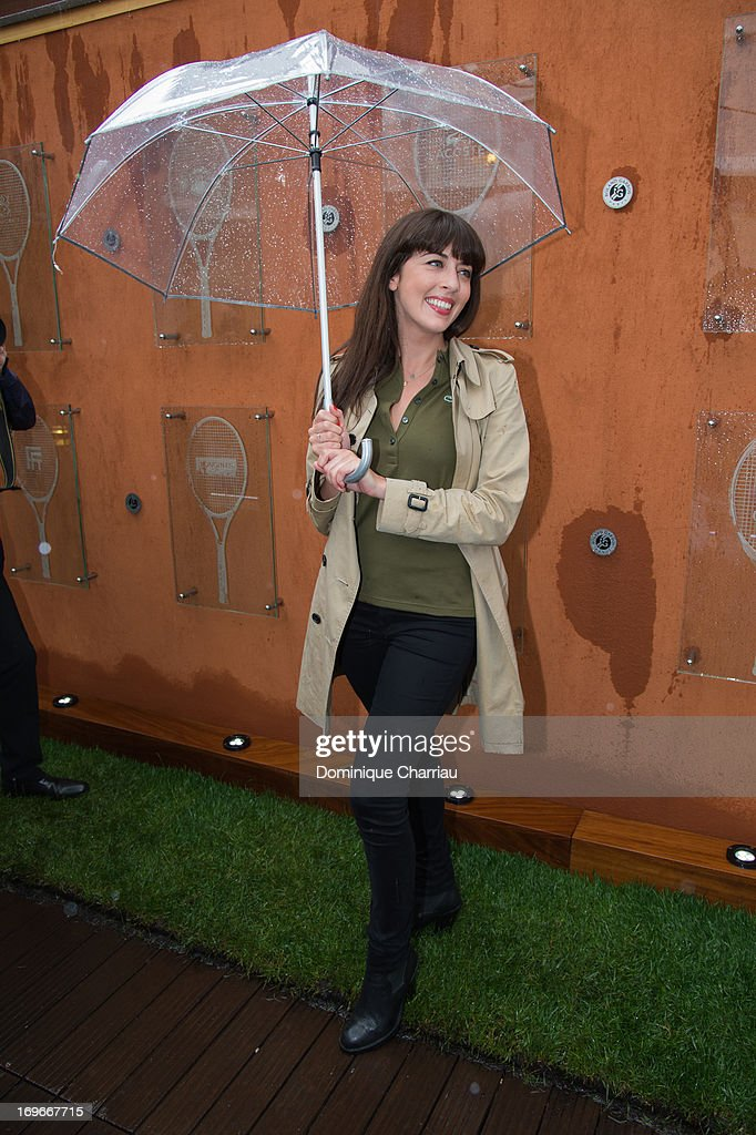 Nolwenn Leroy sightings At French Open 2013 at Roland Garros on May 30, 2013 in Paris, France.
