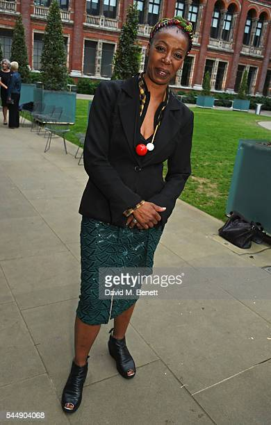 Noma Dumezweni attends the Olivier Awards Summer Party in celebration of the new exhibition 'Curtain Up' at The VA on July 4 2016 in London England