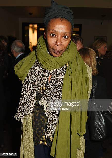 Noma Dumezweni attends the press night after party of the Kenneth Branagh Theatre Company's production of 'Red Velvet' at The The National Cafe on...
