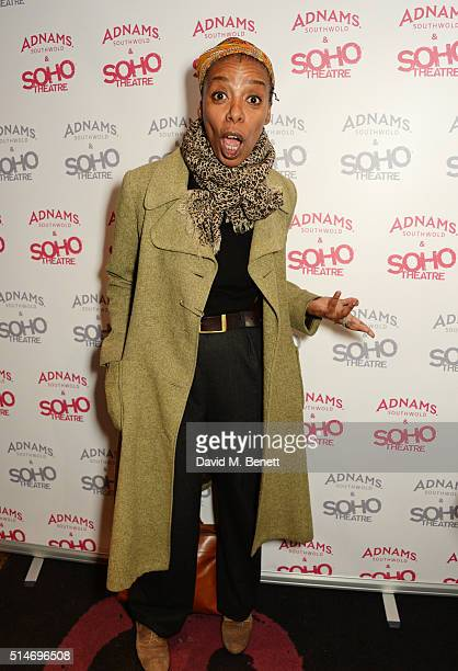 Noma Dumezweni attends the Soho Theatre's Alternative Gala party at The Soho Theatre on March 10 2016 in London England