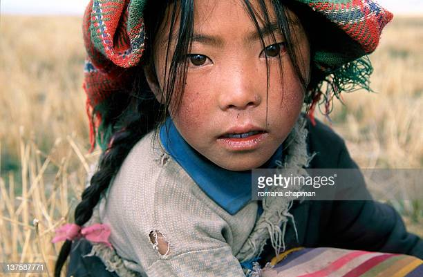 Nomad girl with headscarf