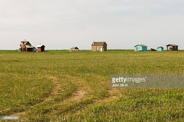 Nome area landscape with houses