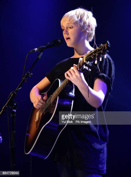 Nominated artist Laura Marling performs during the announcement of the shortlist for the Nationwide Mercury Prize Albums of the Year at the Hospital...