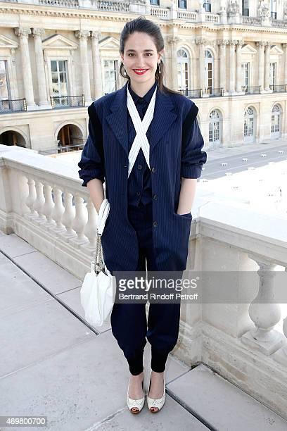 Nominated for 'Moliere de la Comedienne dans un spectacle de Theatre Prive' with 'La Venus a la Fourrure' Marie Gillain attends the Reception in...