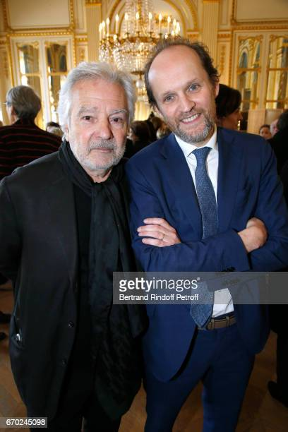 Nominated for 'Moliere du Meilleur Comedien dans un spectacle de Theatre Prive' for 'Le cas Sneijder' Pierre Arditi and President de 'l'Academie des...