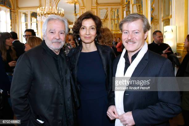 Nominated for 'Moliere du Meilleur Comedien dans un spectacle de Theatre Prive' for 'Le cas Sneijder' Pierre Arditi French Minister of Culture and...