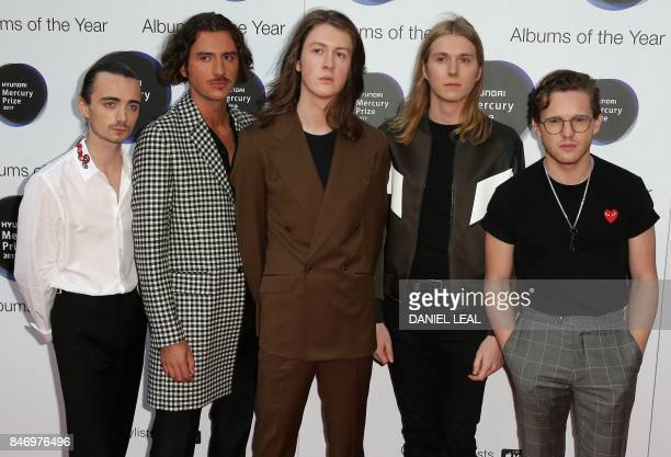 Nominated for their album 'Blossoms' the five members of Blossoms Tom Ogden Charlie Salt Josh Dewhurst Joe Donovan and Myles Kellock pose for a...