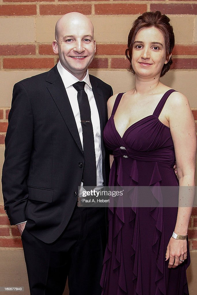 Nominee Andrew Schneider (L) and guest attend the 40th Annual Annie Awards after party held at Royce Hall on the UCLA Campus on February 2, 2013 in Westwood, California.
