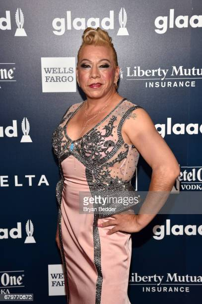 Nominee Bamby Salcadeo attends 28th Annual GLAAD Media Awards at The Hilton Midtown on May 6 2017 in New York City