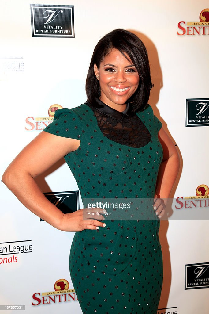 Nominee Camille Townsend arrives at the 3rd Annual 'To The Nines' After Party hosted by LA Urban League Young Professionals at The Beverly Hilton Hotel on April 26, 2013 in Beverly Hills, California.
