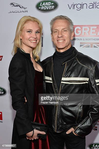 Nominee Chris Sanders and Jessica Steele attend the 2014 GREAT British Oscar Reception at British Consul General's Residence on February 28 2014 in...