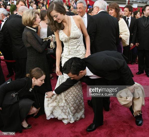 Nominee for Best Actress Marion Cotillard arrives for the 80th Annual Academy Awards at the Kodak Theater in Hollywood California on February 24 2008...