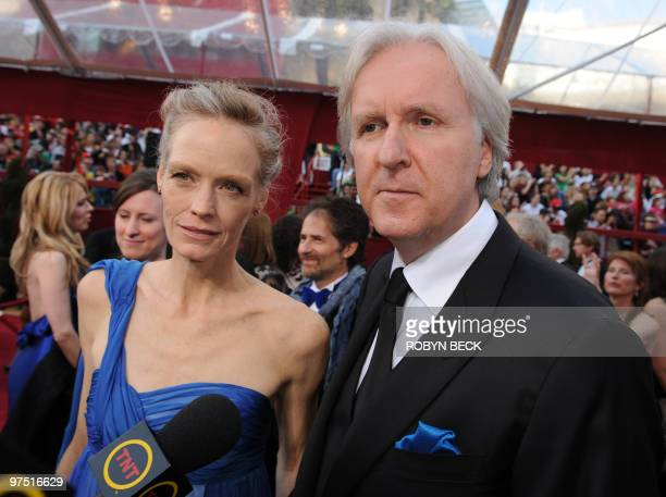 Nominee for Best Director James Cameron for 'Avatar' and his wife actress Suzy Amis arrive at the 82nd Academy Awards at the Kodak Theater in...
