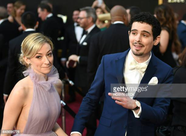Nominee for Best Director 'La La Land' Damien Chazelle arrives on the red carpet for the 89th Oscars on February 26 2017 in Hollywood California /...