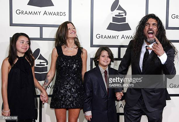 Nominee for Best Metal Performance Slayer arrives with his family at the 50th Grammy Awards in Los Angeles on February 10 2008 AFP PHOTO/Gabriel BOUYS