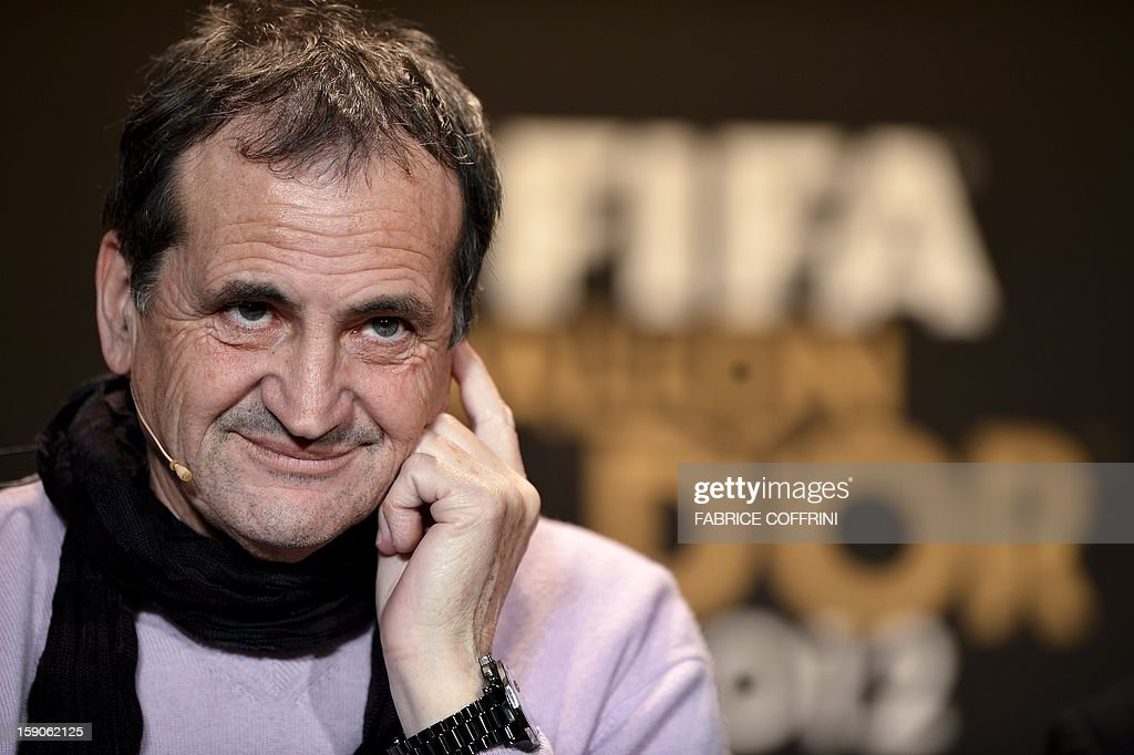 Nominee for the best women's coach of the year France's Bruno Bini gives a press conference on January 7, 2013 at the Kongresshaus prior to the FIFA 2012 Ballon d'Or award ceremony in Zurich. AFP PHOTO / FABRICE COFFRINI