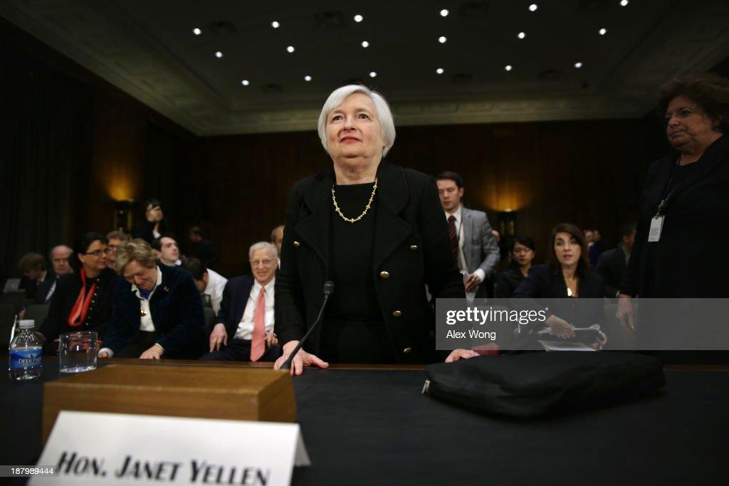 Fed Chair Nominee Janet Yellen Testifies At Senate Confirmation Hearing