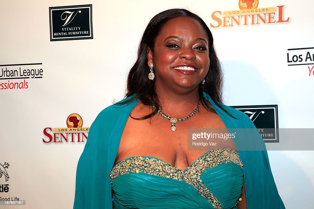 Nominee Michelle Merriweather arrives at the 3rd Annual 'To The Nines' After Party hosted by the LA Urban League Young Professionals at The Beverly Hilton Hotel on April 26, 2013 in Beverly Hills, California.