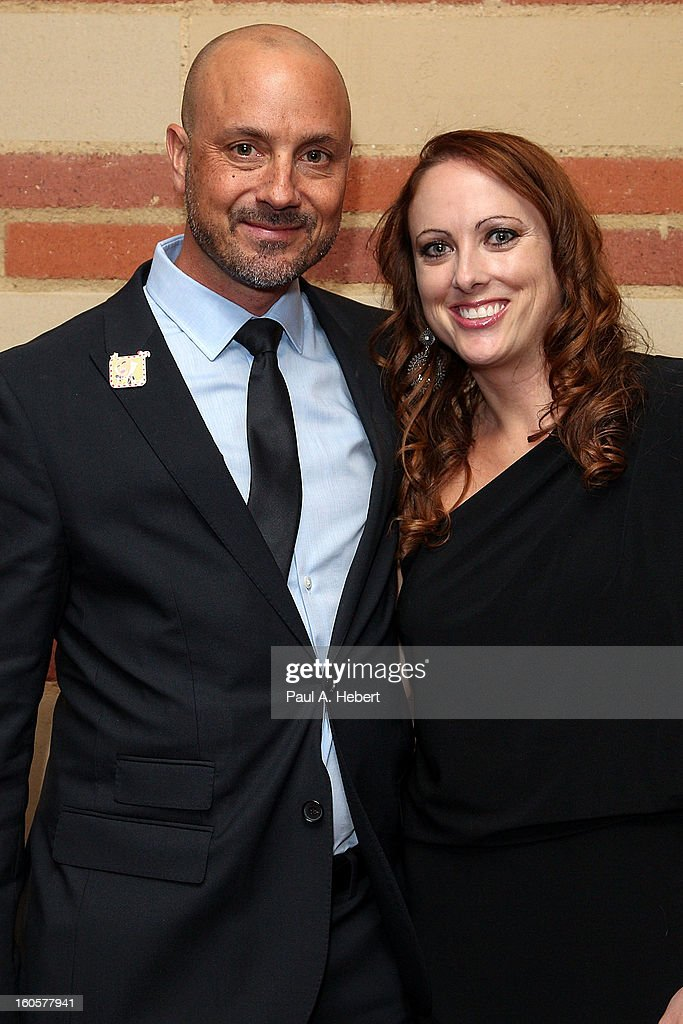 Nominee Tim Mertens (L) and guest attends the 40th Annual Annie Awards after party held at Royce Hall on the UCLA Campus on February 2, 2013 in Westwood, California.