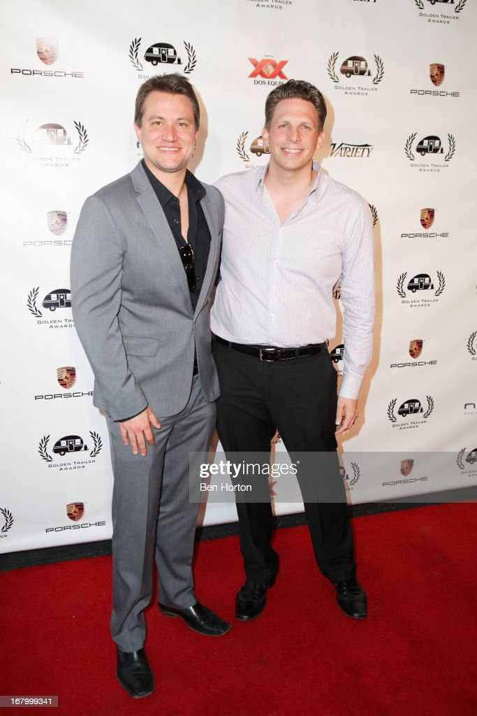 Nominees Andrei Bulawka and Ron Beck attend the 14th Annual Golden Trailer Awards at Saban Theatre on May 3, 2013 in Beverly Hills, California.