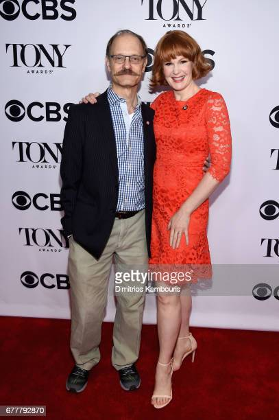 Nominees David Hyde Pierce and Kate Baldwin attend the 2017 Tony Awards Meet The Nominees Press Junket at the Sofitel New york on May 3 2017 in New...