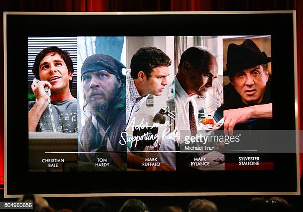 Nominees for Actor in a Supporting Role announced onstage during the 88th Oscars nominations announcement held at Academy Of Motion Picture Arts And...