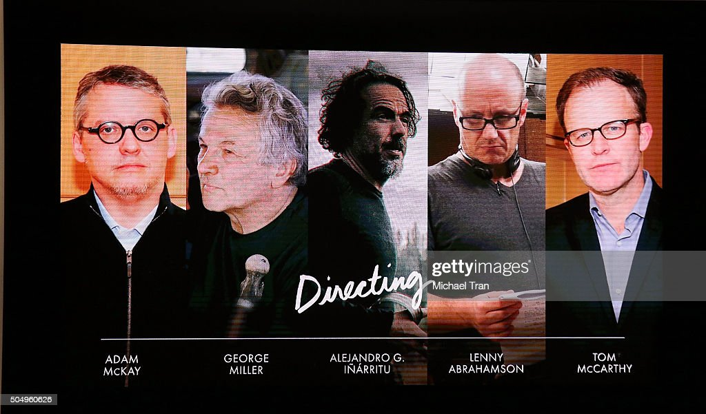 Nominees for Director announced onstage during the 88th Oscars nominations announcement held at Academy Of Motion Picture Arts And Sciences on...
