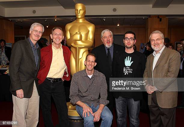 Nominees John Musker Henry Selick Pete Docter host/animator Tom Sito and nominees Tomm Moore and Ron Clements attend the 82nd Academy Awards...