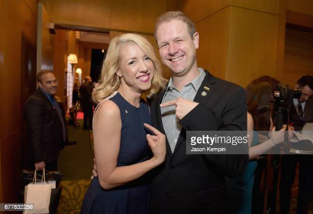Nominees Kelly Devine and David Hein attend the 2017 Tony Awards Meet The Nominees Press Junket at the Sofitel New York on May 3 2017 in New York City