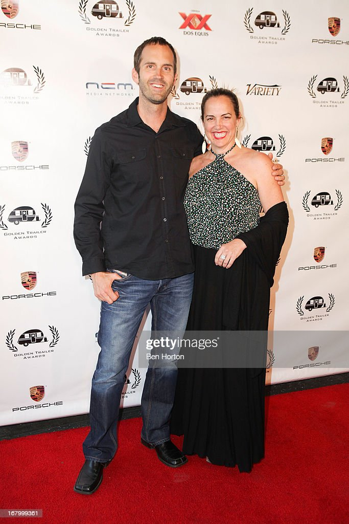 Nominees Scott Palmer and Ellen Dimler attend the 14th Annual Golden Trailer Awards at Saban Theatre on May 3, 2013 in Beverly Hills, California.
