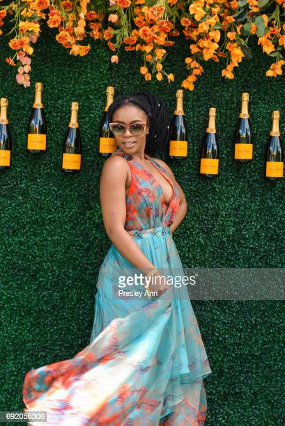 Nomzamo Mbatha attends The Tenth Annual Veuve Clicquot Polo Classic Arrivals at Liberty State Park on June 3 2017 in Jersey City New Jersey