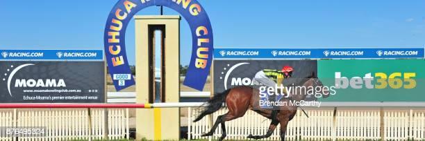 None Left ridden by Craig Robertson wins the Echuca Newsagency BM58 Handicap at Echuca Racecourse on November 20 2017 in Echuca Australia