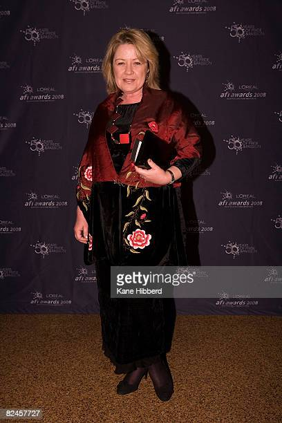 Noni Hazlehurst arrives for the opening night for the L'Oreal Paris 2008 AFI Awards at the Rivoli Cinema on August 19 2008 in Melbourne Australia