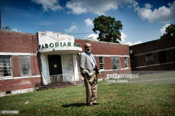 Nonprofit consultant from Oxford Mississippi James Miller poses for a portrait in front of the Taborian Hospital in Mound Bayou Mississippi June 3...