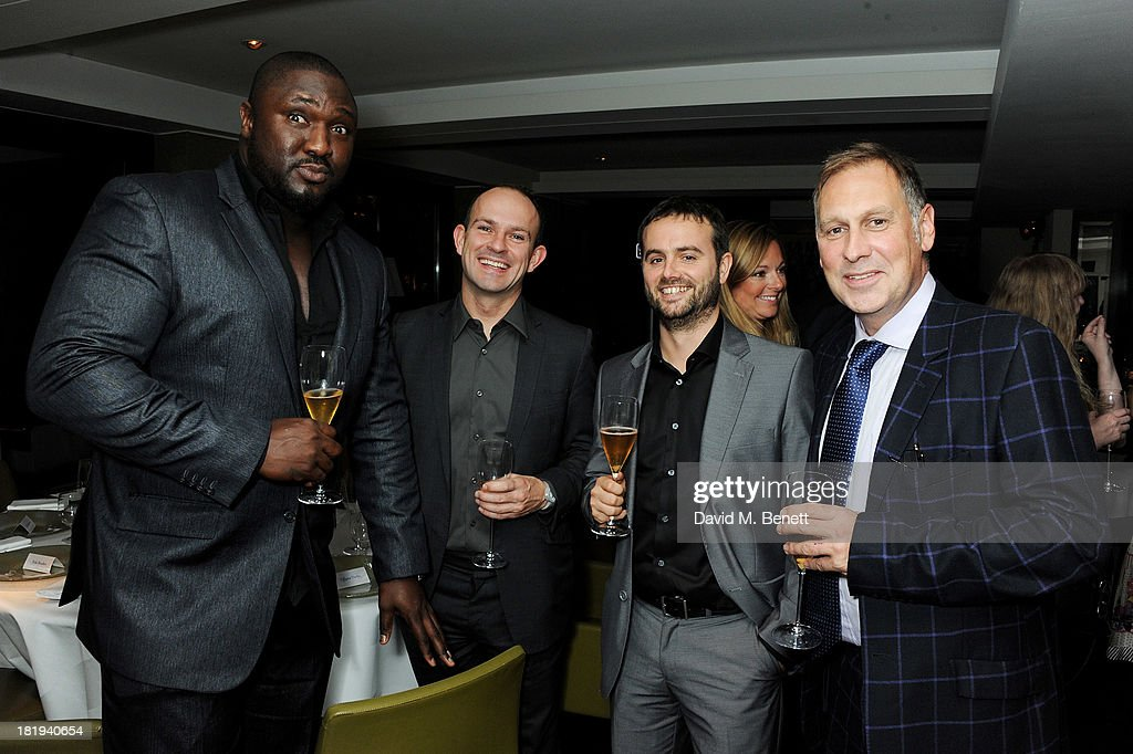 <a gi-track='captionPersonalityLinkClicked' href=/galleries/search?phrase=Nonso+Anozie&family=editorial&specificpeople=5129452 ng-click='$event.stopPropagation()'>Nonso Anozie</a>, Stuart Murphy, Colin Robertson and Phil Edgar-Jones attend the Sky Living rebrand dinner at the Greenhouse Restaurant on September 26, 2013 in London, England.