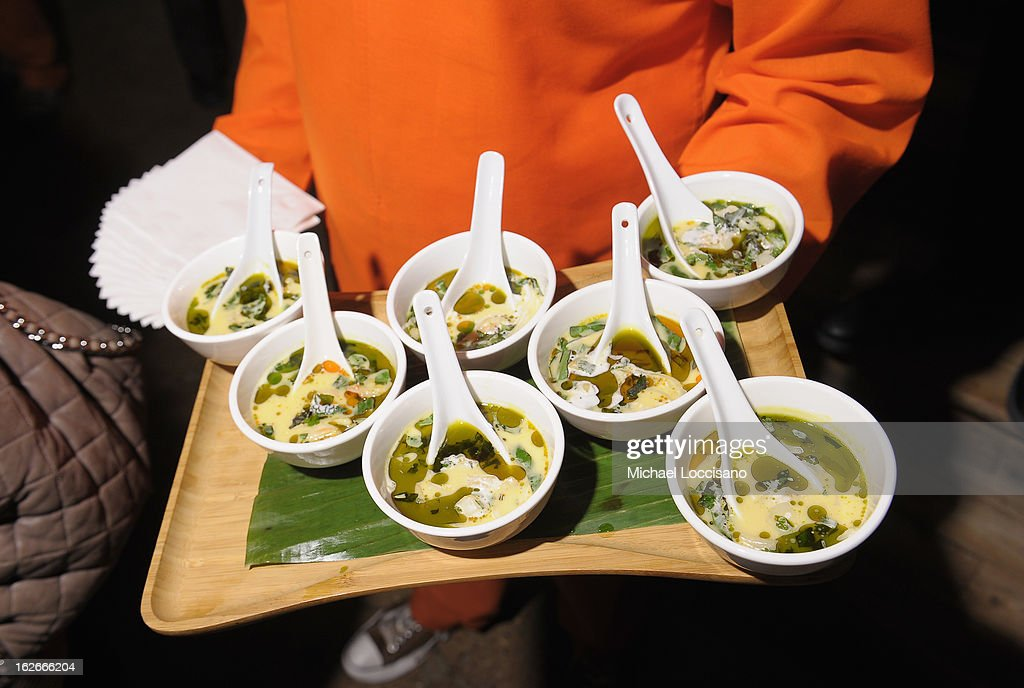 Nonya Seafood Laksa soup served during the press conference announcing the Inaugural World Street Food Congress 2013 at Spice Market on February 25, 2013 in New York City.