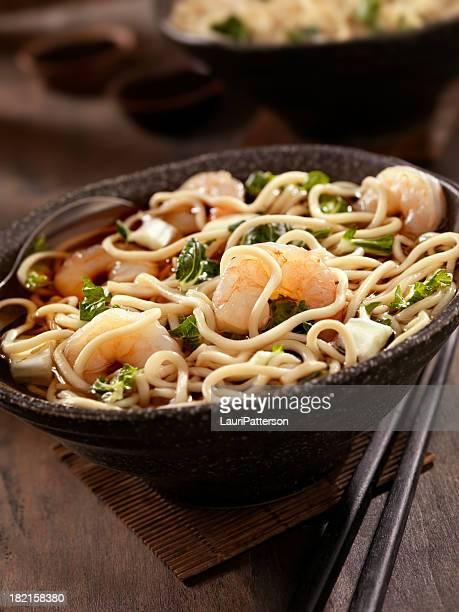 Noodle Soup with Shrimp