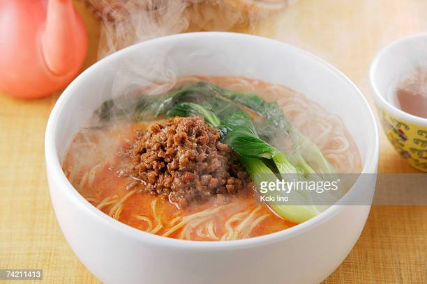 Noodle soup with spicy sesame soup