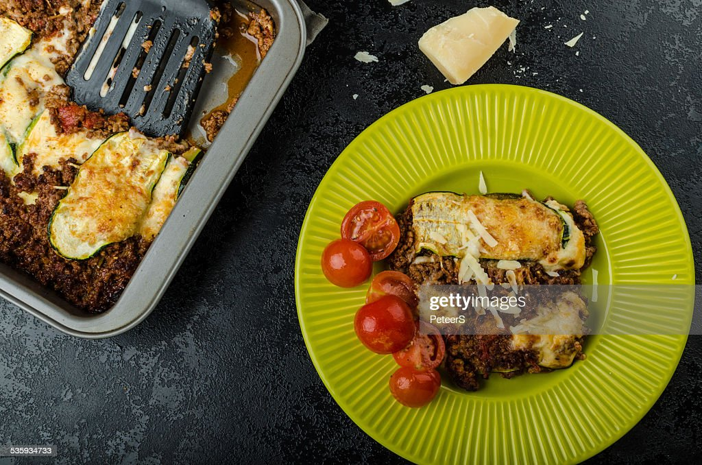 Noodle-Free Zucchini Ribbon Lasagna : Stock Photo