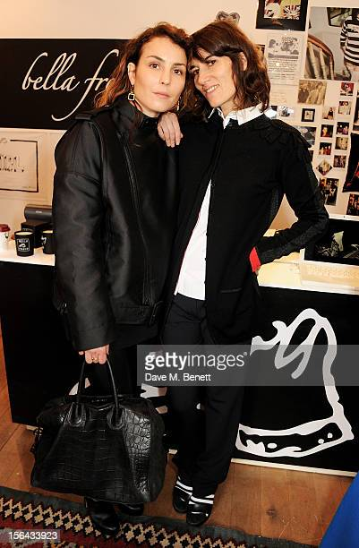Noomi Rapace and Bella Freud attend the launch of the Bella Freud popup boutique at Bicester Village on November 15 2012 in Bicester England