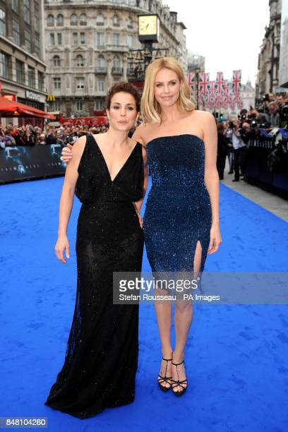 Noomi Rapace and Charlize Theron arrive for the world premiere of the film Prometheus in Leicester Square London