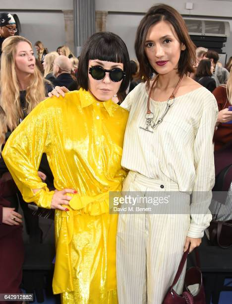 Noomi Rapace and Hikari Yokoyama attend the Mulberry Winter '17 LFW show at The Old Billingsgate on February 19 2017 in London England