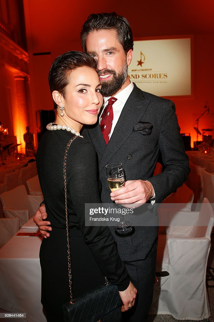Noomi Rapace and Jack Guinness attend the Moet Chandon Grand Scores 2016 at Hotel De Rome on February 6 2016 in Berlin Germany