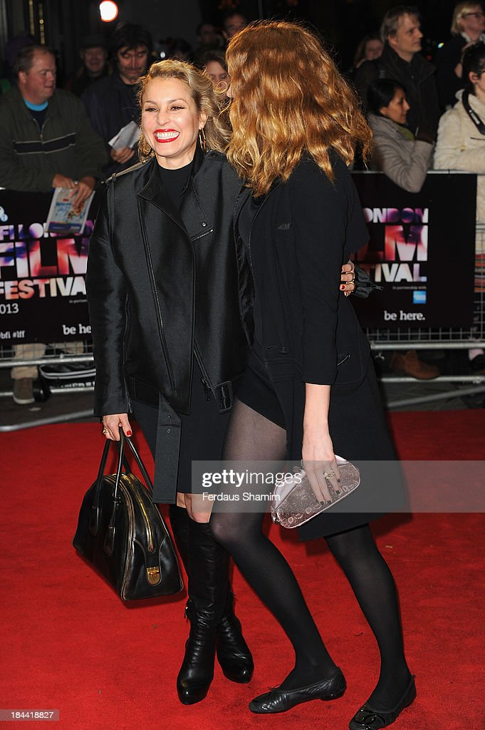 <a gi-track='captionPersonalityLinkClicked' href=/galleries/search?phrase=Noomi+Rapace&family=editorial&specificpeople=4522889 ng-click='$event.stopPropagation()'>Noomi Rapace</a> and <a gi-track='captionPersonalityLinkClicked' href=/galleries/search?phrase=Lily+Cole&family=editorial&specificpeople=206320 ng-click='$event.stopPropagation()'>Lily Cole</a> attend a screening of 'Zero Theorem' during the 57th BFI London Film Festival at Odeon West End on October 13, 2013 in London, England.
